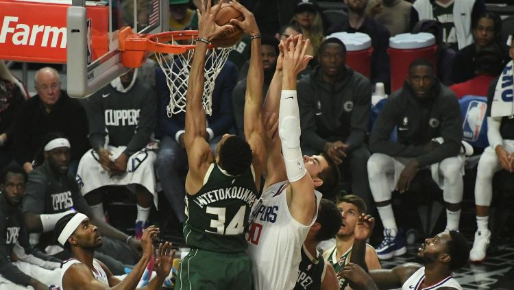 "Adetokunbo dominē pār ""Clippers"", Hārdenam 36+13 pret ""Warriors"""