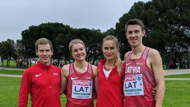 Latvijas stafetes komandai 12. vieta EČ krosā
