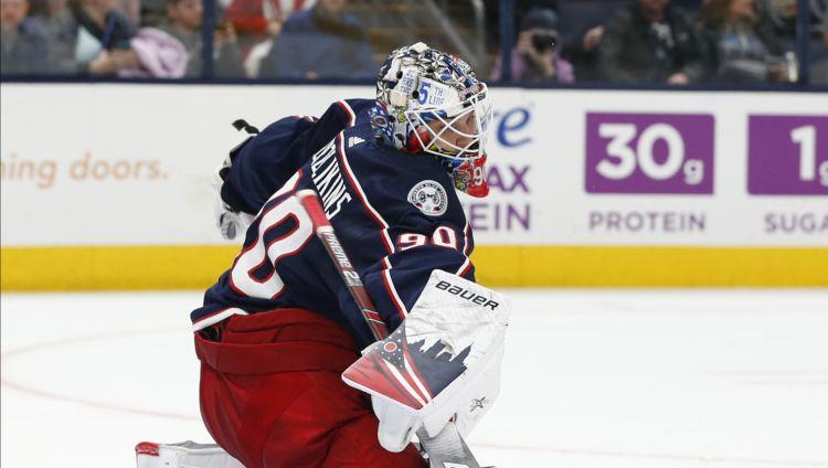 """Merzļikins par savu pirmo NHL uzvaru: """"Tā beidzot atnāca"""""""