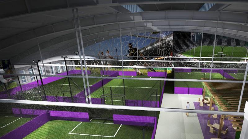 Rīgā atklās modernu futbola halli ar septiņiem mazajiem laukumiem
