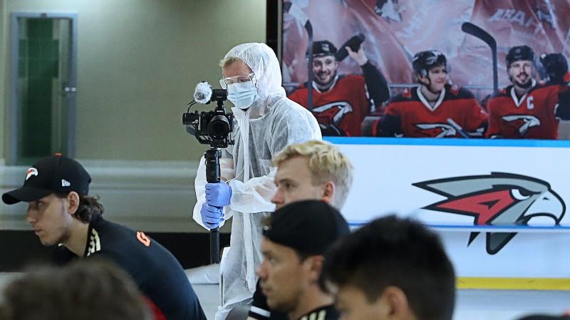 """""""Avangard"""" turpina treniņus, kaut gan 20 cilvēkiem konstatēts Covid-19"""