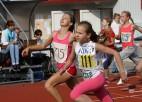Foto: Skolēnu sporta spēles sākas ar vieglatlētiku