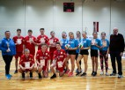 Foto: Madlienietes un lielvārdieši uzvar volejbola sacensībās