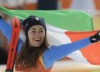 Nobraucienā sievietēm triumfē itāliete Godža, Vona samierinās ar bronzu