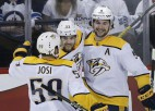 """Seši """"Predators"""" hokejisti steidz palīgā Zviedrijai, Šveicei un ASV"""