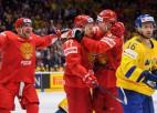 Krievija otrajā periodā iemet sešas ripas pēc kārtas un sadauza Zviedriju