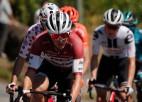 """Skujiņš demonstrē fantastisku sniegumu, izcīnot 2. vietu """"Tour de France"""" kalnu posmā"""