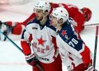 Efektīgs Okulova vārtu guvums atnes CSKA uzvaru KHL grandu duelī