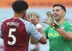 """""""Aston Villa"""" iesit otrajā minūtē un iztur """"Arsenal"""" spiedienu"""