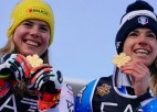 Basino uzvara paralēlajā slalomā atnes mājiniekiem pirmo medaļu, Līnsbergerei arī zelts
