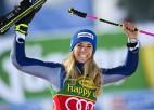 Mazo kristāla globusu milzu slalomā sievietēm pirmo reizi nopelnījusi Basino
