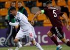 Latvija gūst vārtus pirmā, bet Jovetiču apturēt nespēj - cikls sākts ar zaudējumu