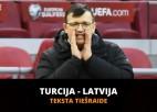 Teksta tiešraide: Turcija - Latvija (3:3, spēle beigusies)