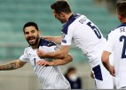 <i>Uguņojošais</i> Mitrovičs izrauj uzvaru Serbijai, Kipra pārspēj Slovēniju