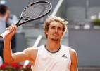 """Zverevs pirmoreiz sasniedz """"French Open"""" pusfinālu"""