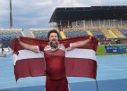 Ar jaunu Eiropas rekordu Bergs piektais paralimpisko spēļu lodes grūšanā