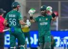 Bābars un Rizvans kriketa klasikā nodrošina Pakistānai vēsturisku uzvaru pār Indiju