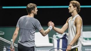 Medvedevs un Zverevs zaudē pirmās kārtas mačos Roterdamā