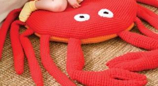 Tamborēts spilvens –  krabis