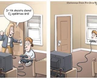 Foto: Kā atradināt savu bērnu no datorspēlēm