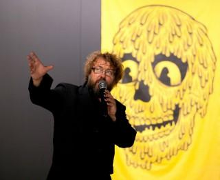 """Rīgas mākslas telpas Intro zālē  skatāma igauņu mākslinieka <i>Anonymous Boh</i> personālizstāde """"Zvaigžņu putekļi"""""""