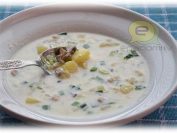 Fotorecepte: Piena zupa ar kartupeļiem un siļķi