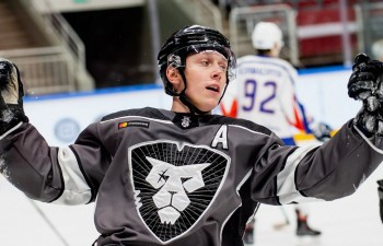 """HK """"Rīga"""" hokejists Millers atzīts par MHL nedēļas labāko uzbrucēju"""