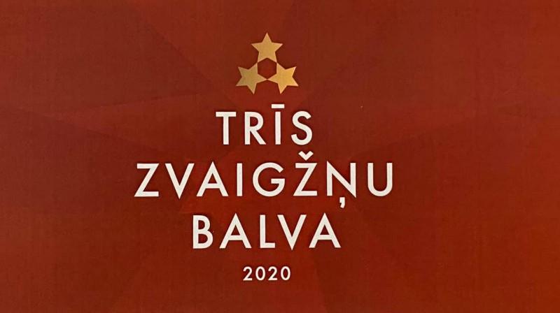 """""""Trīs zvaigžņu balva 2020"""". Foto: facebook.com/sandisr"""