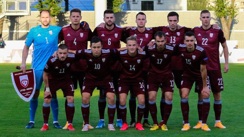 Latvijas futbola izlase. Foto:LFF