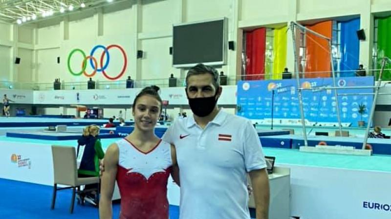 Elīna Vihrova un Igors Vihrovs. Foto: IGYM Latvia