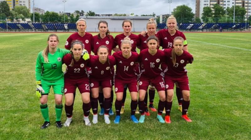 Latvijas sieviešu izlase. Foto: LFF