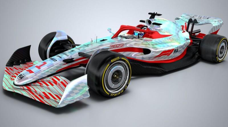 2022. gada F1 sacīkšu auto. Foto: f1.com