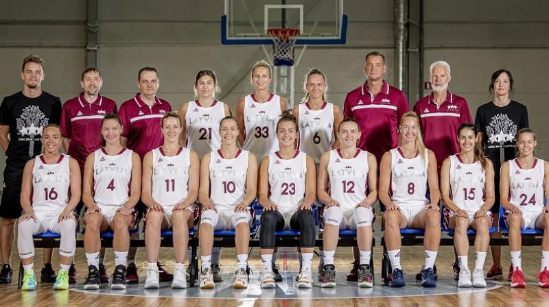 Latvijas sieviešu valstsvienība 2021. gada 22. jūlijā. Foto: LBS