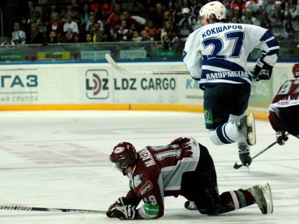 """""""Dinamo""""  zaudē arī """"Amur"""""""