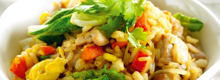 Dārzeņu sautējums ar sēnēm un rīsiem