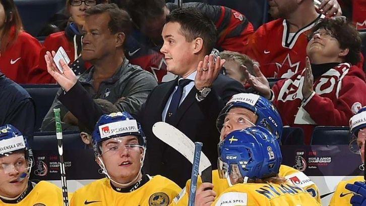 CAS atceļ Zviedrijas U20 hokeja treneru diskvalifikāciju par uzvedību medaļu ceremonijā