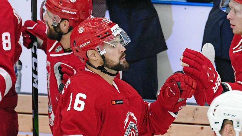 """Daugaviņam vienīgie komandas vārti """"Vityaz"""" zaudējumā Čeļabinskā"""