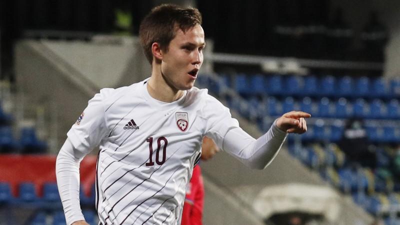 J. Ikauniekam divi vārti, Černomordijs un Krollis iesit pirmoreiz, Latvija grauj ar 5:0
