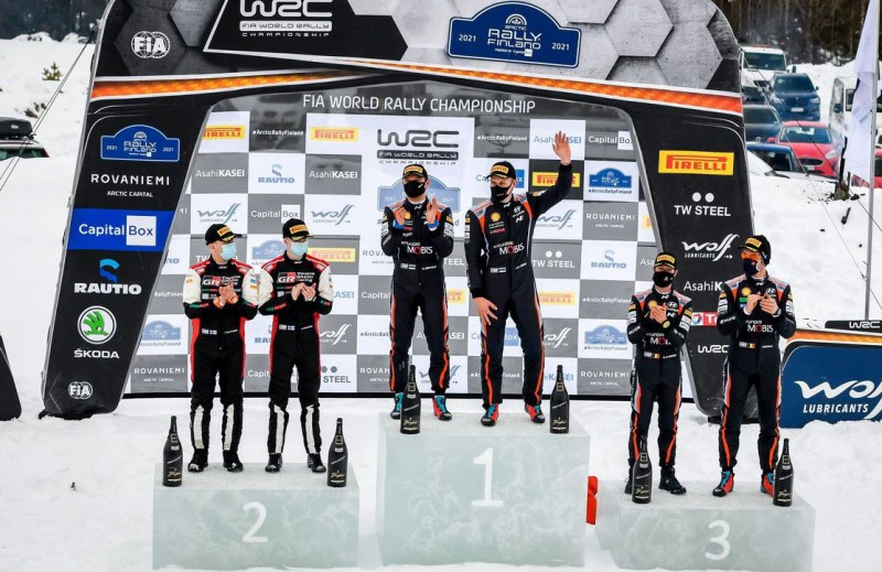 Lapzemes rallijā uzvar Tanaks, 20 gadus vecais Rovanpera kļūst par WRC līderi