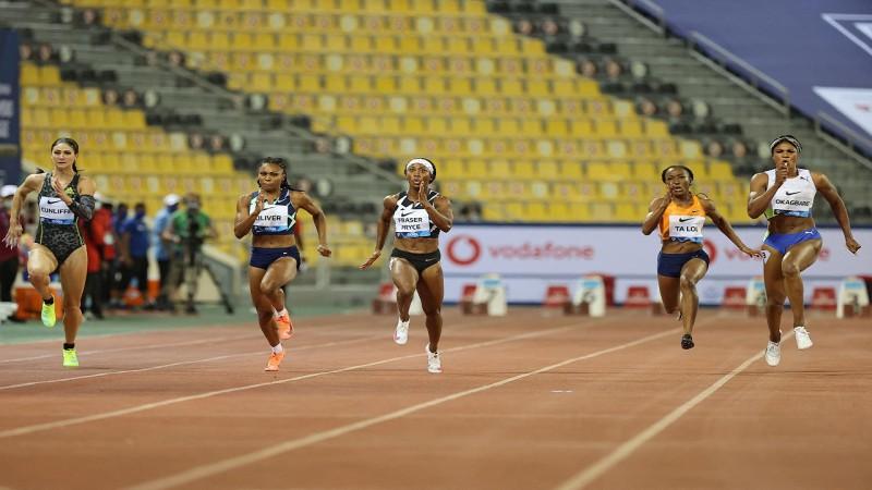 Trīs zem 2 minūtēm 800m un divas zem 11 sekundēm 100m sievietēm Dohā